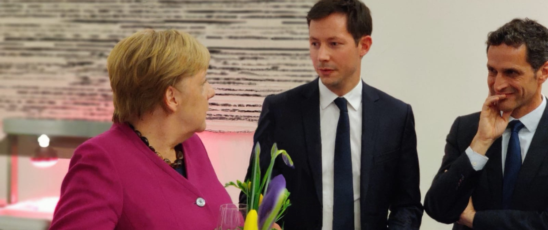 François-Xavier Bellamy et Angela Merkel, Berlin, novembre 2019