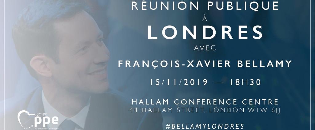 Réunion publique à Londres avec François-Xavier Bellamy