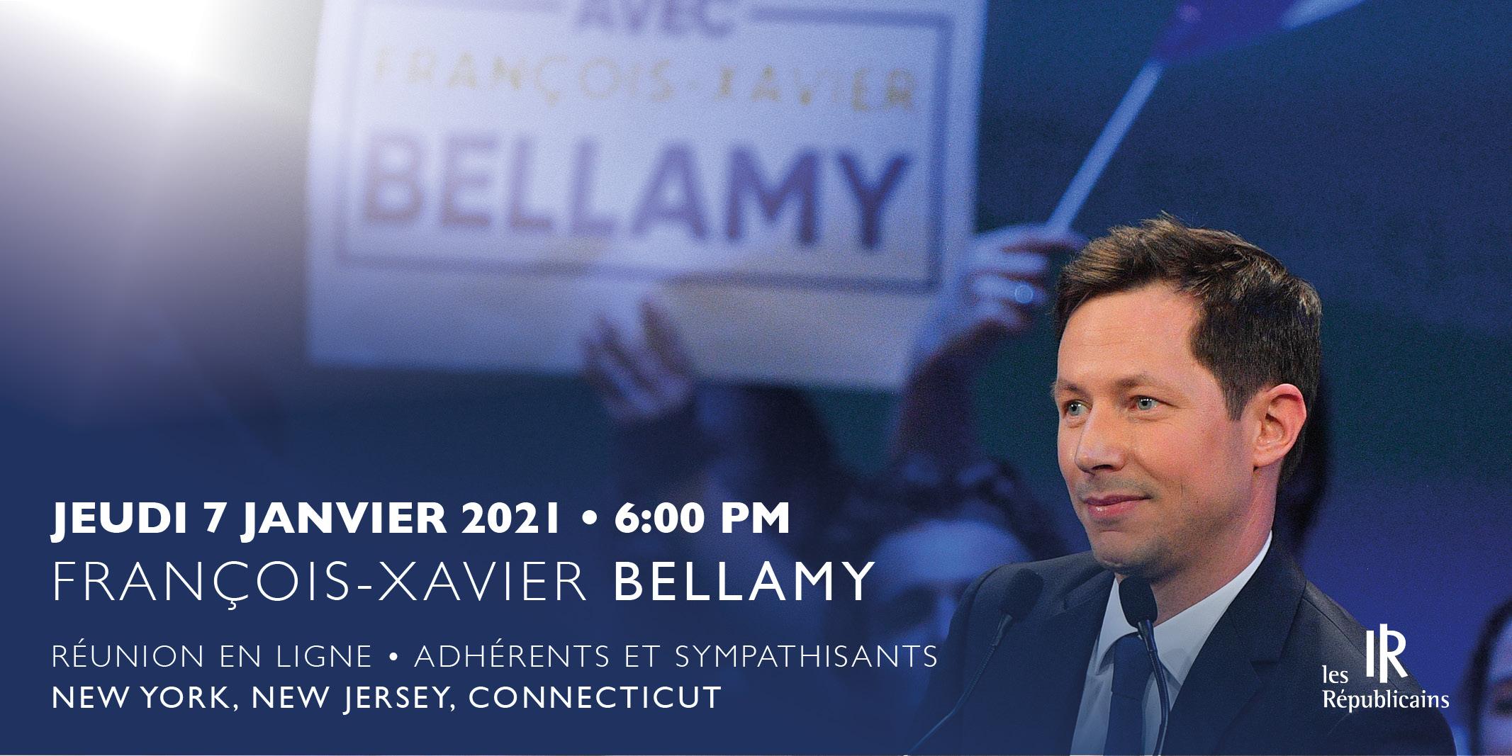 Visioconférence Français des Etats-Unis avec François-Xavier Bellamy